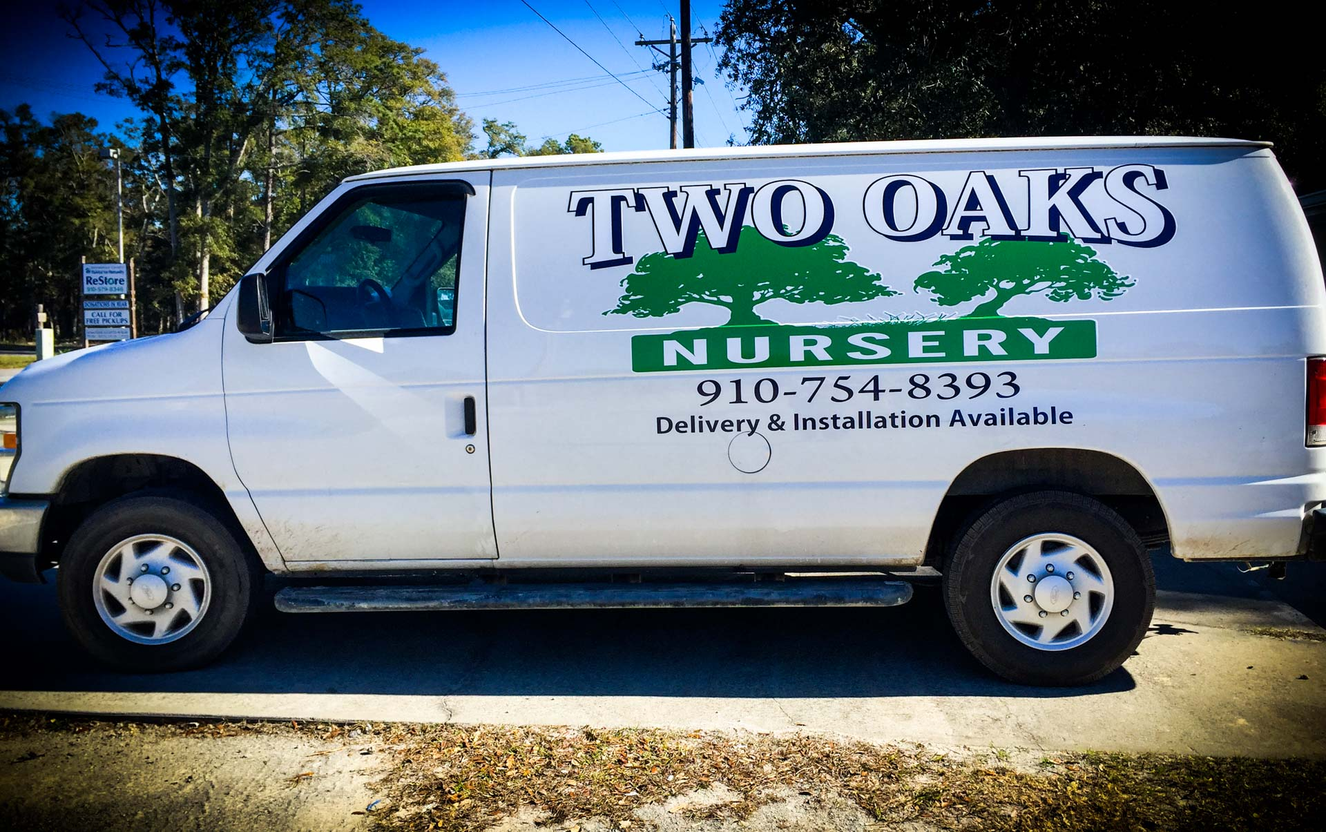 Two Oaks Nursery Van